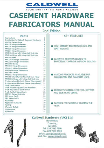 Casement Hardware Fabricators Manual