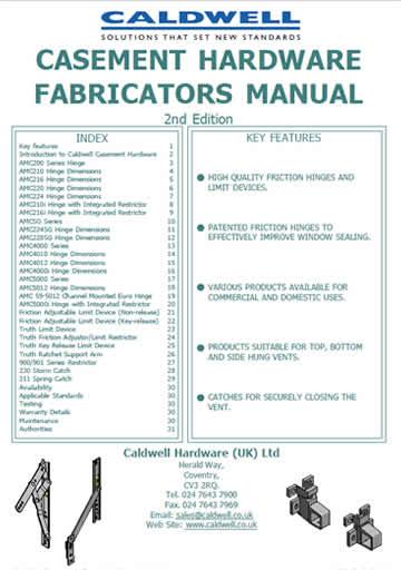 Casement Hardware Fabricators Manual