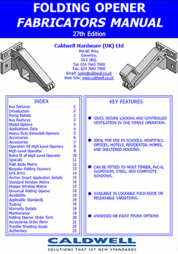 Folding Opener Fabricators Manual