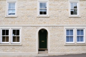 uPVC vertical slider with sash hardware