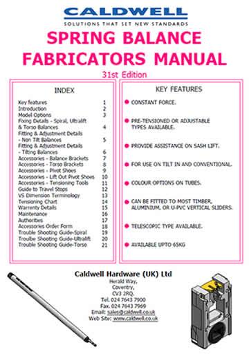 Spring Balance Fabricators Manual