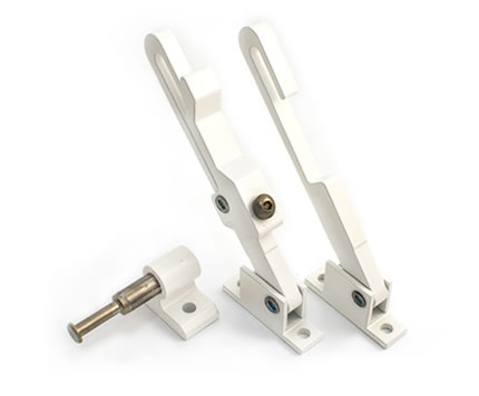 Casement restrictors face mounted