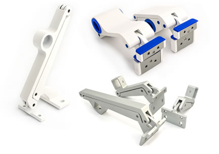 Folding openers for casement windows