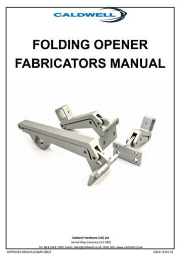 Folding-opener-fabricators-manual